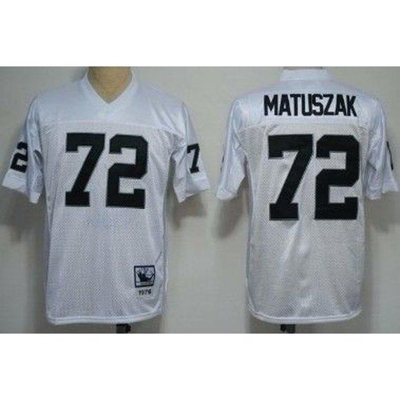 Oakland Raiders John Matuszak White Jersey